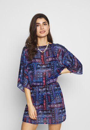TUNIC - Beach accessory - blau/koralle