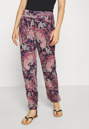 PAISLEY - Pyjama bottoms - navy/rot