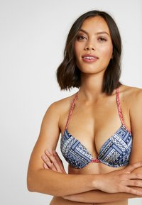 s.Oliver - PUSH UP - Bikinitop - blue/red - 3