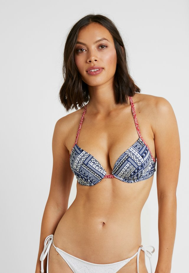 PUSH UP - Bikinitop - blue/red