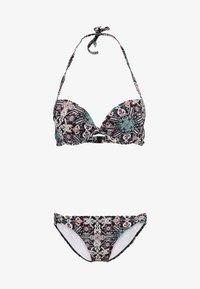 s.Oliver - PUSH UP SET - Bikini - black-print - 4