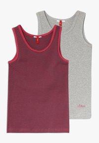 s.Oliver - 2 PACK - Unterhemd/-shirt - grey - 0