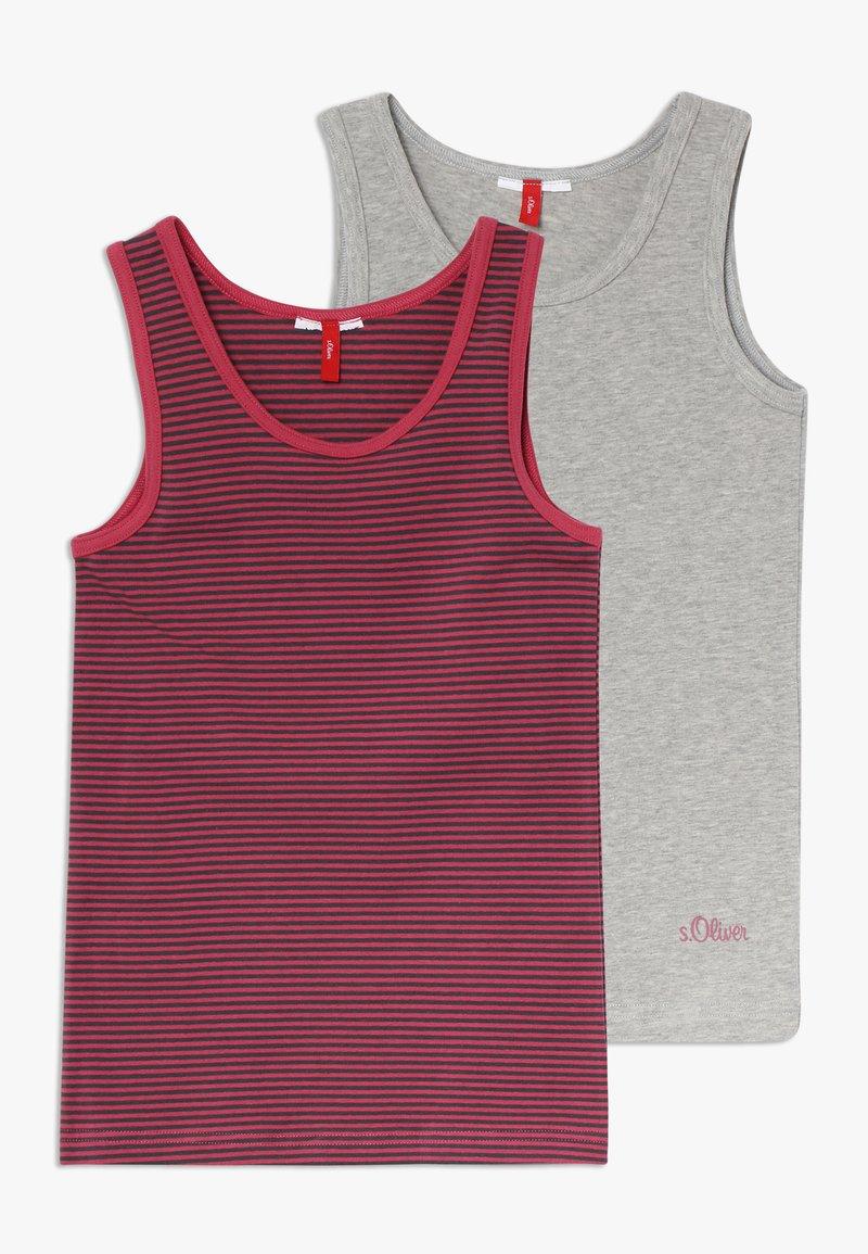 s.Oliver - 2 PACK - Unterhemd/-shirt - grey