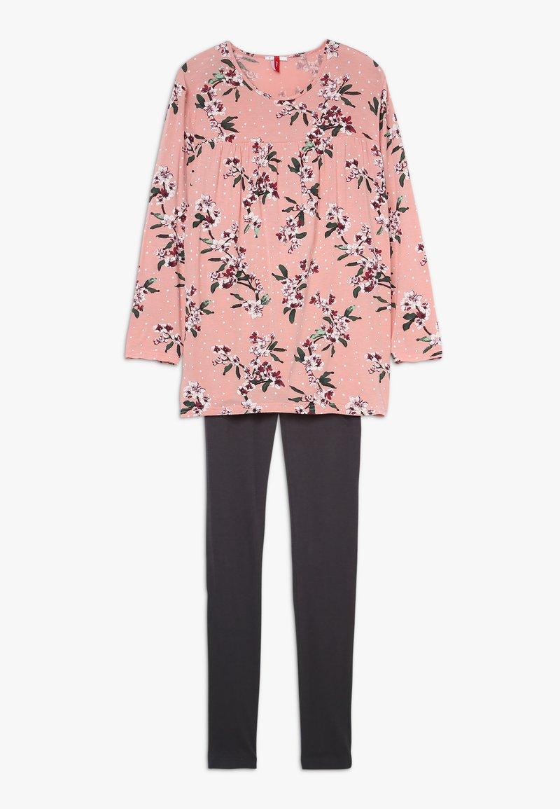 s.Oliver - SCHLAFANZUG - Pyjama set - rose/anthrazit