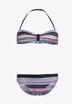 BANDEAU - Bikini - blue/rose
