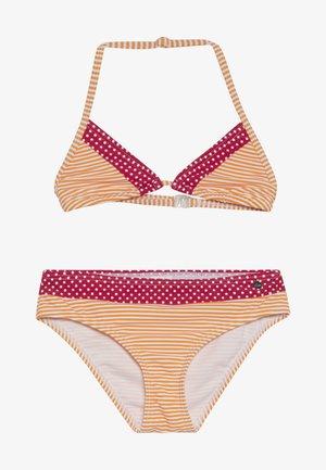 TRIANGLE SET - Bikinit - pink/orange