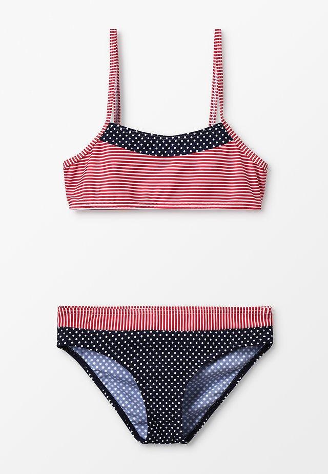 BUSTIER SET - Bikini - navy/red
