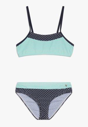 BUSTIER SET - Bikini - marine/türkis