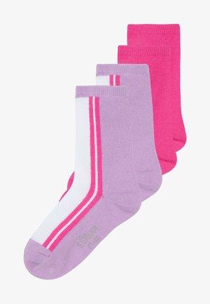 ONLINE JUNIOR FASHION SOCKS 4 PACK - Ponožky - neon pink