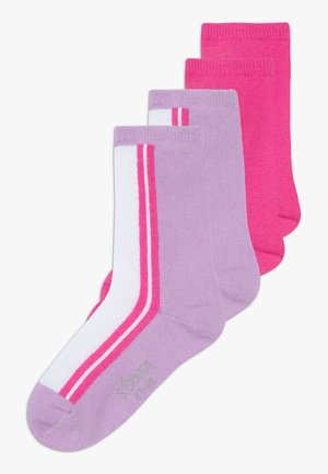ONLINE JUNIOR FASHION SOCKS 4 PACK - Ponožky - neon pink