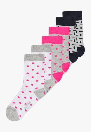 ONLINE JUNIOR FASHION 6 PACK - Calcetines - neon pink
