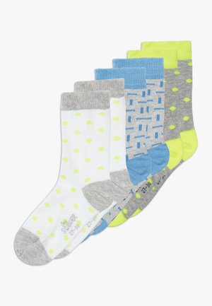 ONLINE JUNIOR FASHION 6 PACK - Calcetines - neon yellow