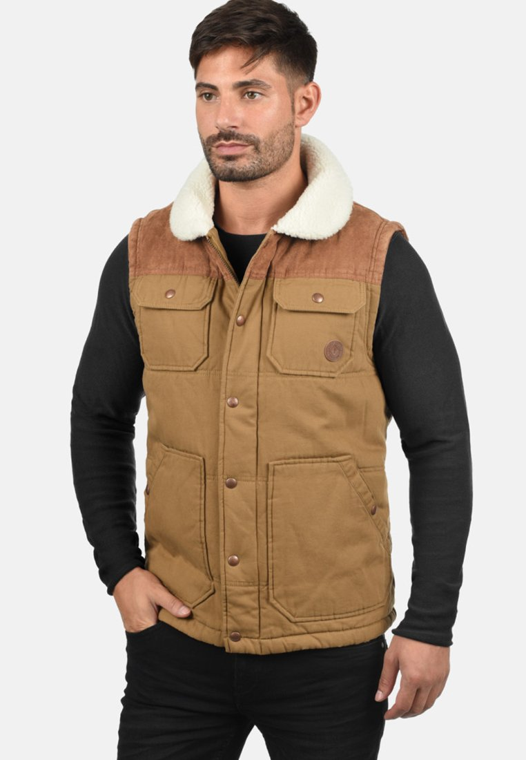 Solid - FERDI - Waistcoat - brown
