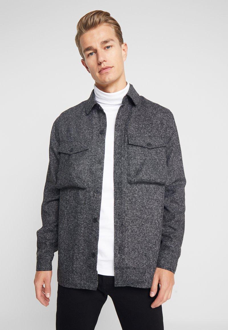 Solid - ANTON - Skjorta - dark grey melange