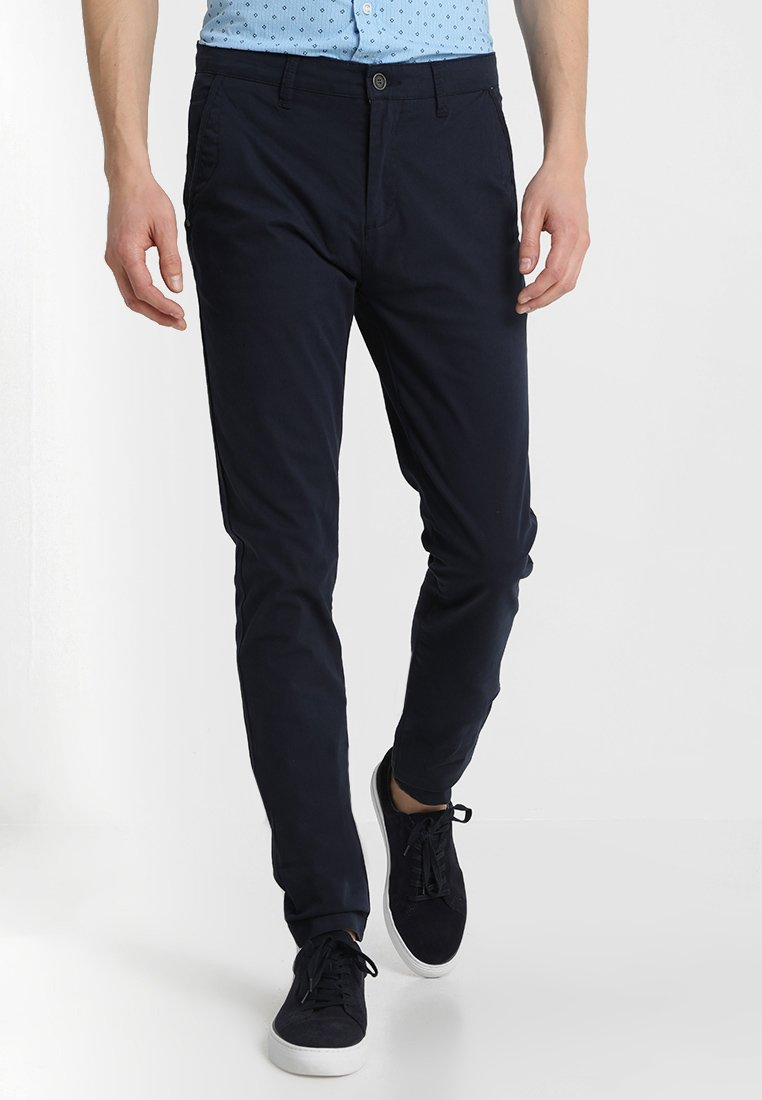 Solid - JOE CRISP - Trousers - navy