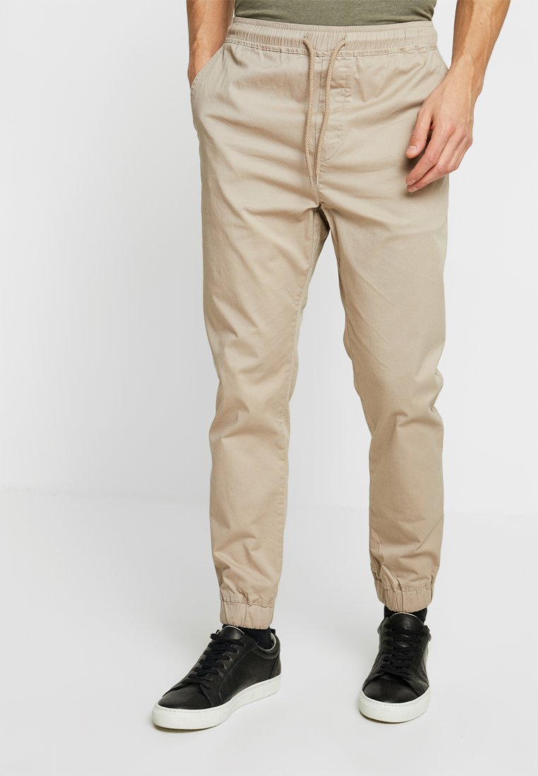 Solid - TRUC CUFF - Trousers - simple taupe