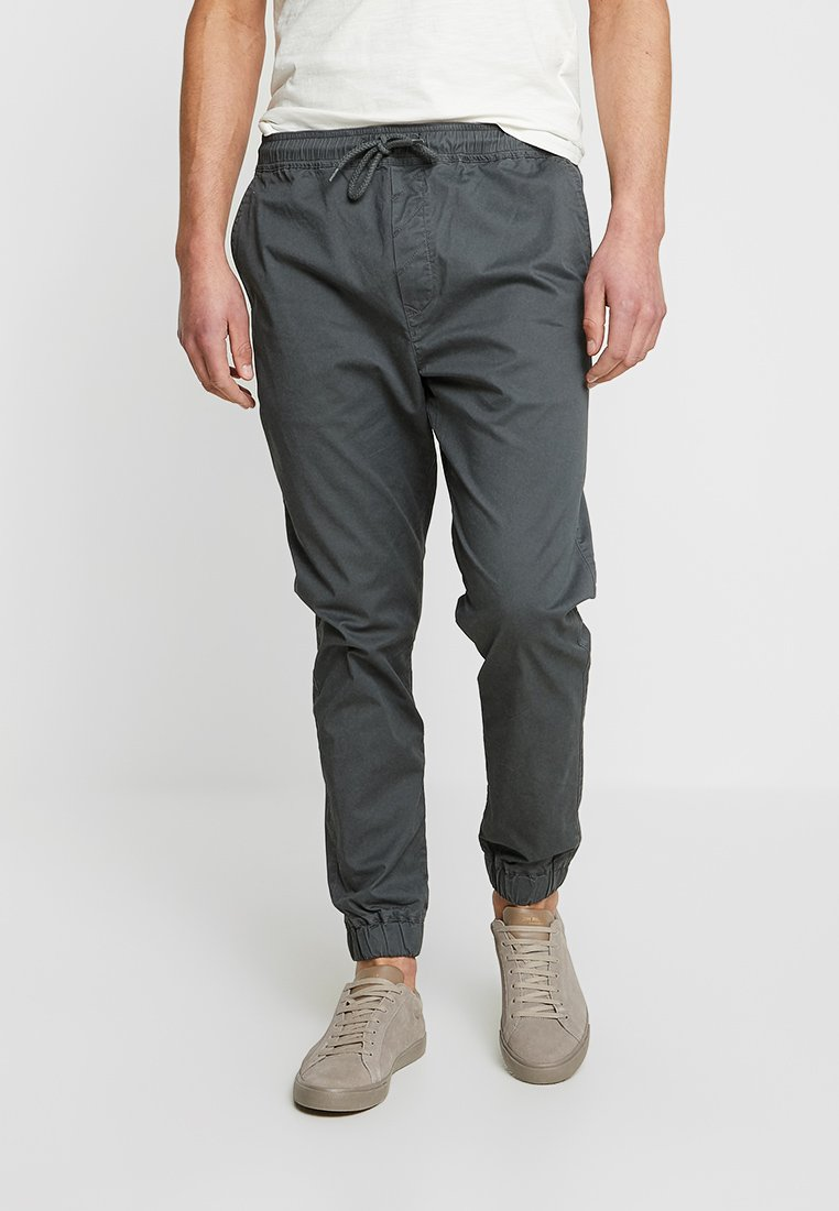 Solid - TRUC CUFF - Trousers - dark grey
