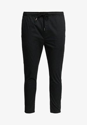 TRUC CROPPED - Spodnie materiałowe - black