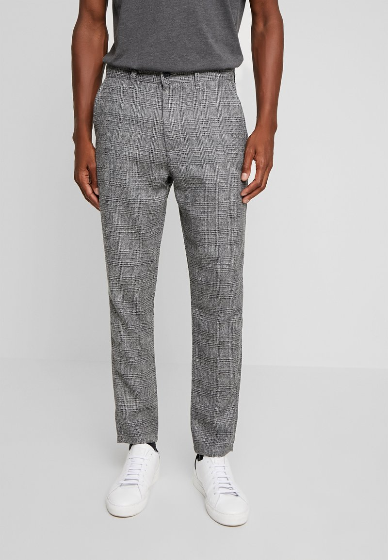 Solid - SLIM BARRO - Trousers - grey
