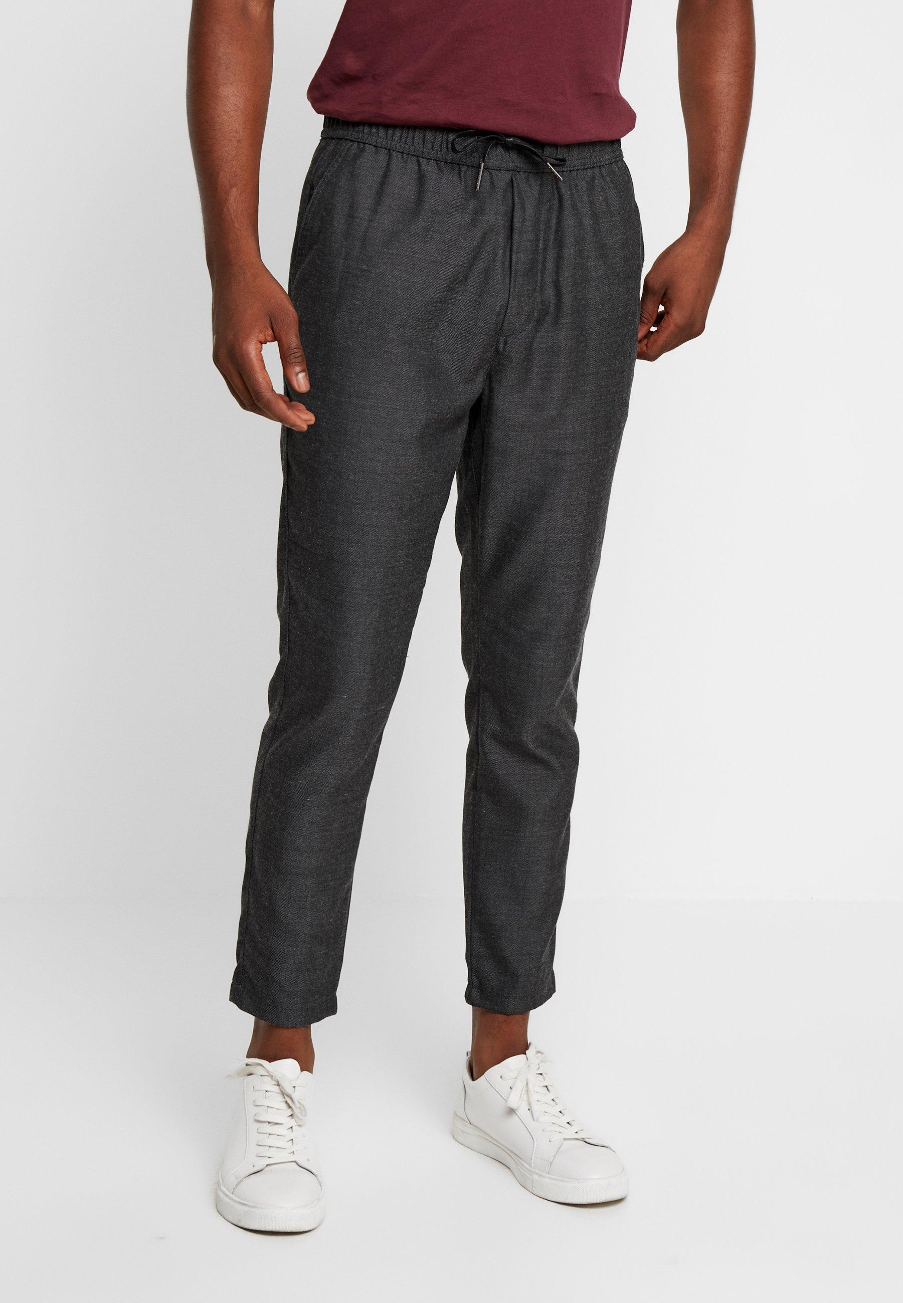 Solid Jogger Trouser - Broek Dark Grey Melange PAxbkOPX hWfggWN2