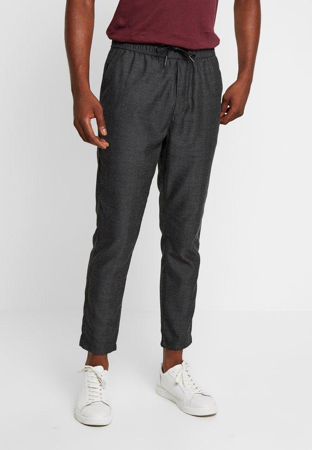 JOGGER TROUSER - Trousers - dark grey melange
