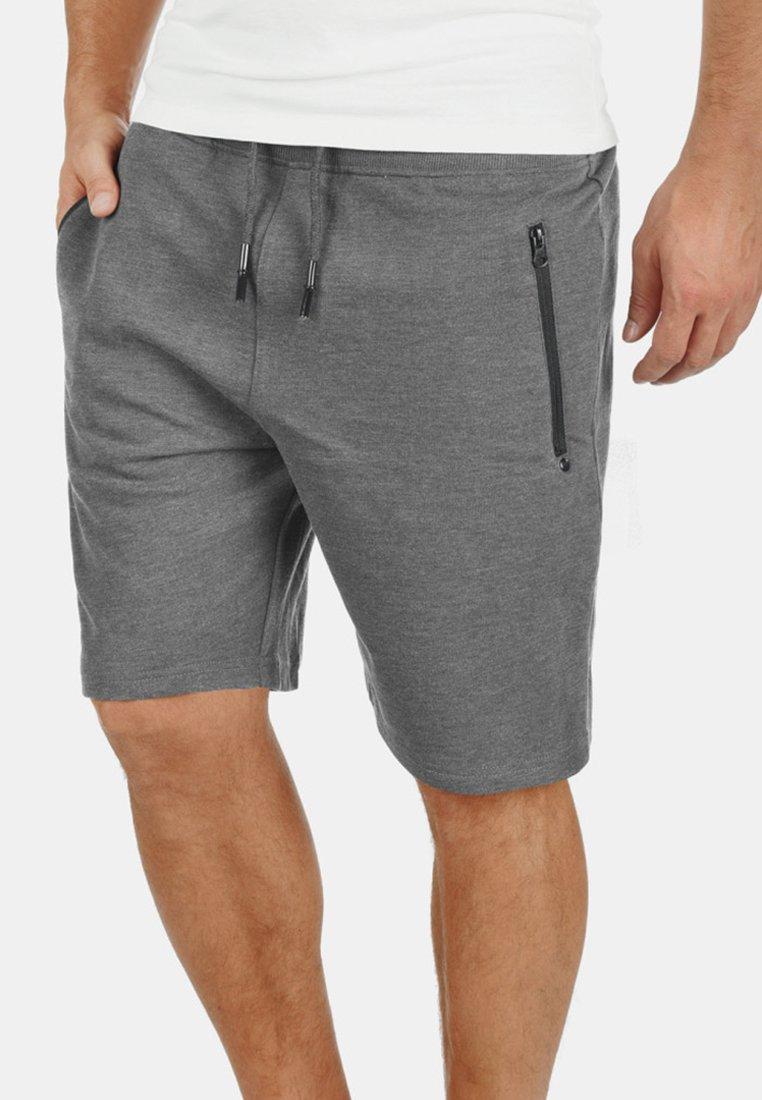 Solid - TARAS - Shorts - grey melange
