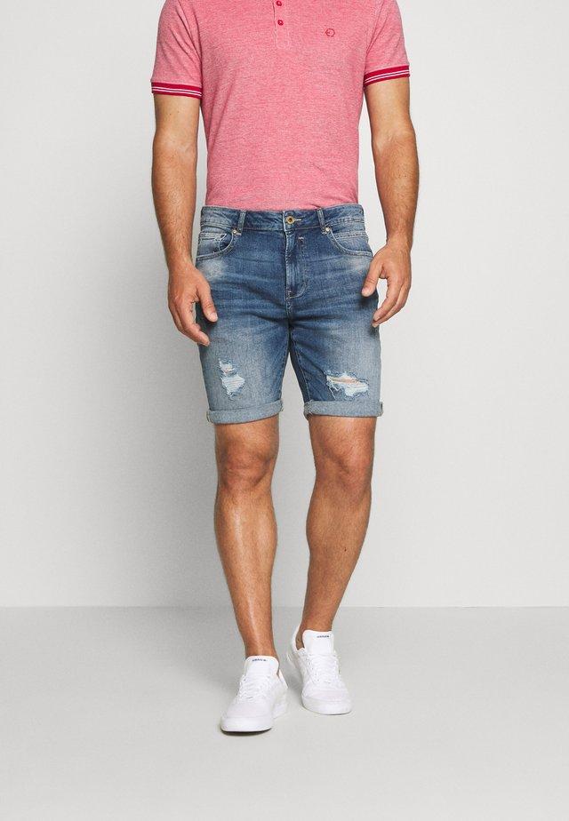 REGULAR RYDER BLUE 287 - Short en jean - blue denim