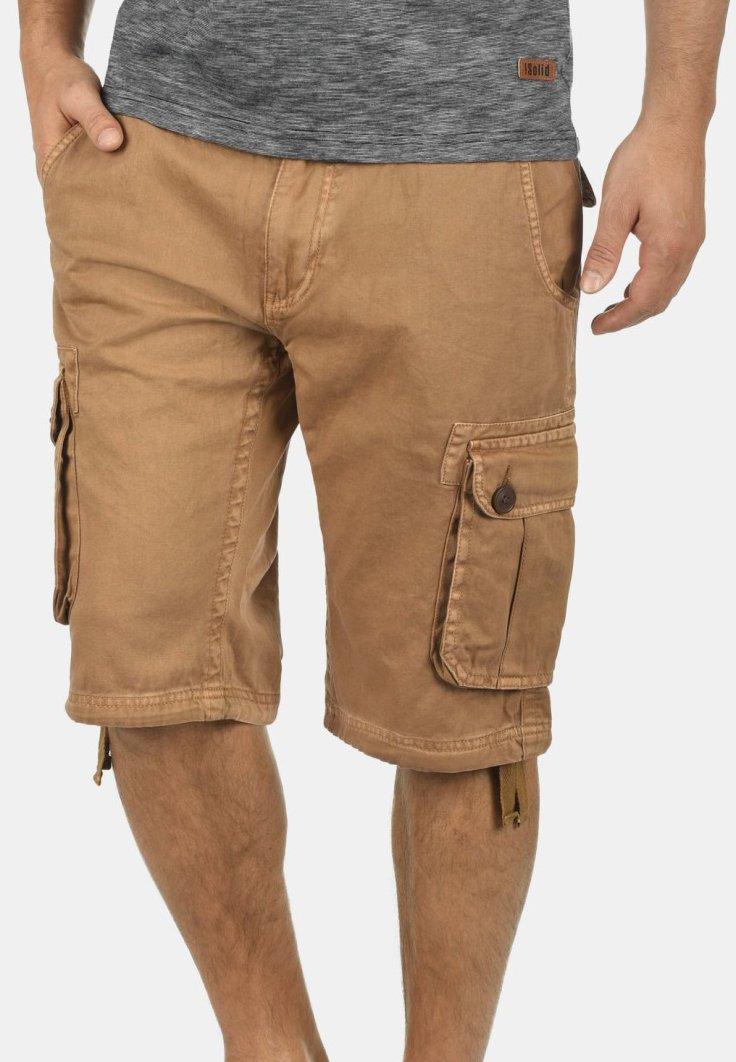 Solid - VIZELA - Shorts - camel
