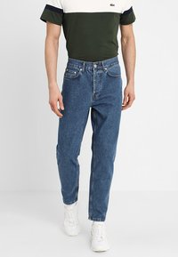 Solid - TAPERED DAD FIT - Jeans Tapered Fit - mid blue - 0