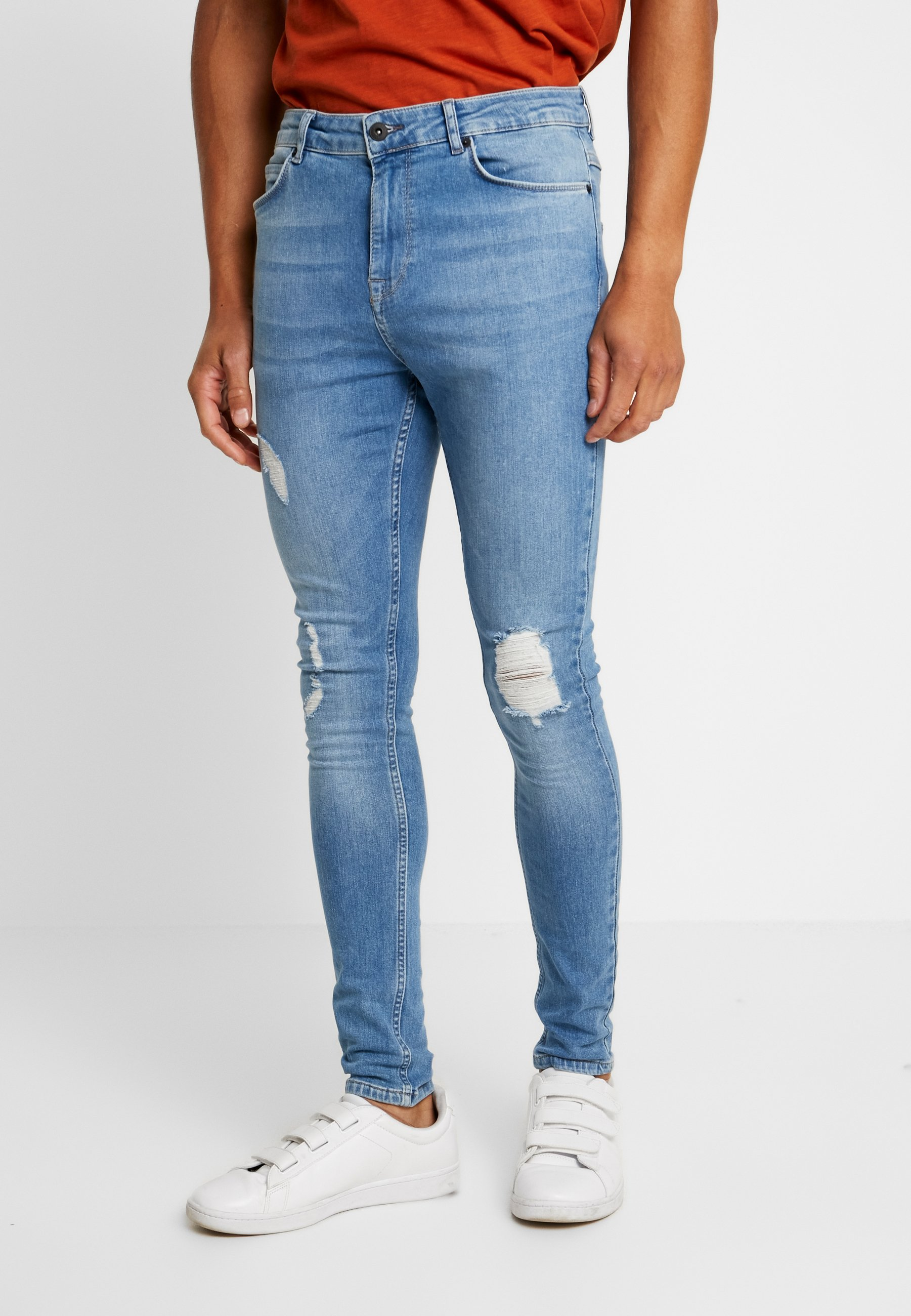 Solid Stan Blue Super SkinnyJeans Light ZXiPOkTu