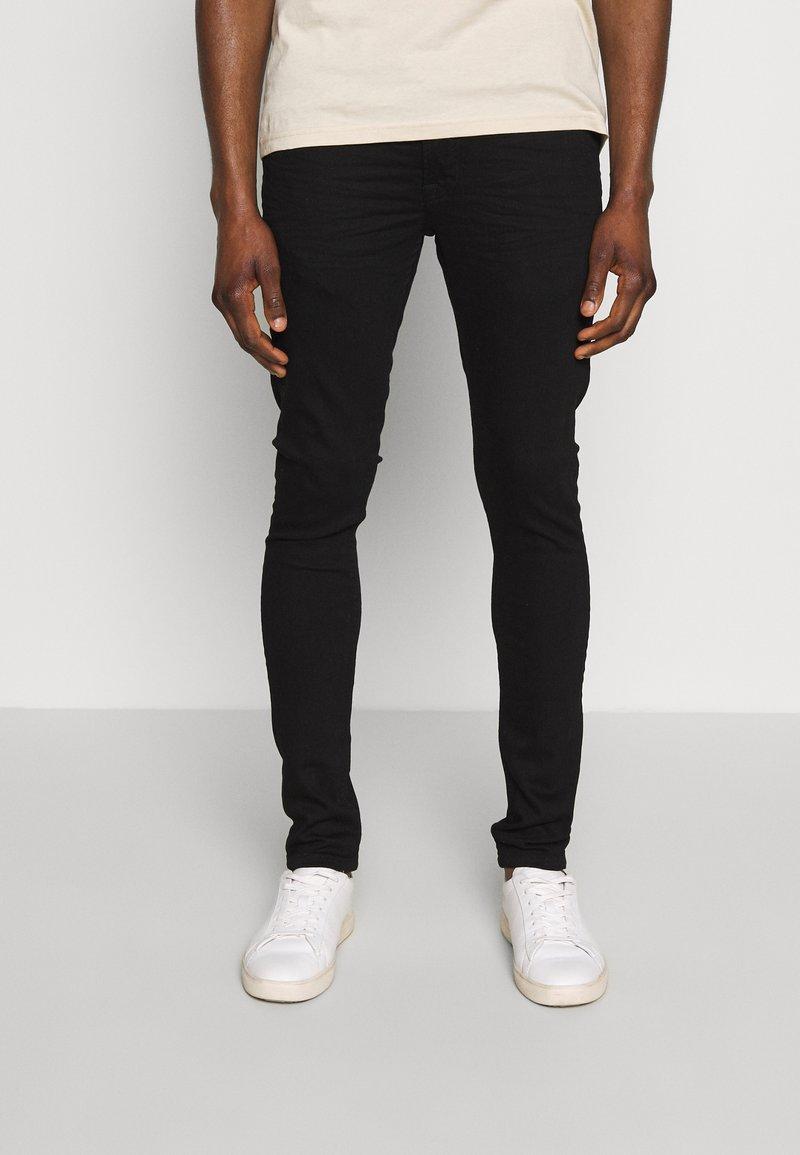 Solid - SUPERSKINNY SCOTT - Jeans Skinny - black denim