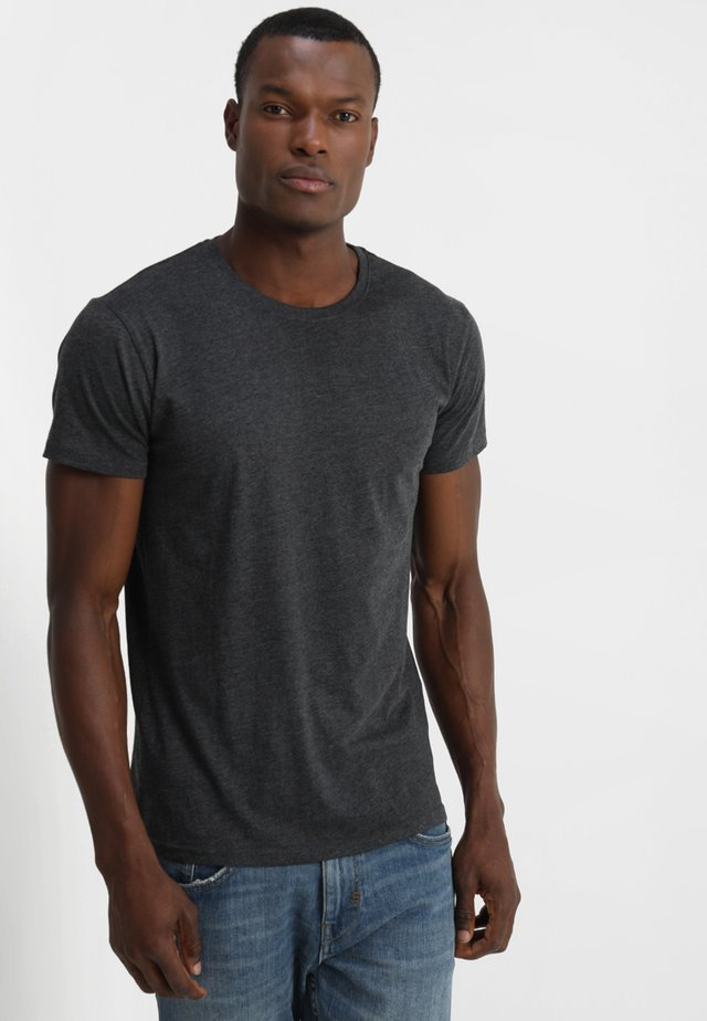 ROCK - T-shirts - dark grey melange
