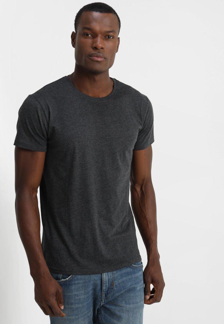 Solid - ROCK - Jednoduché triko - dark grey melange
