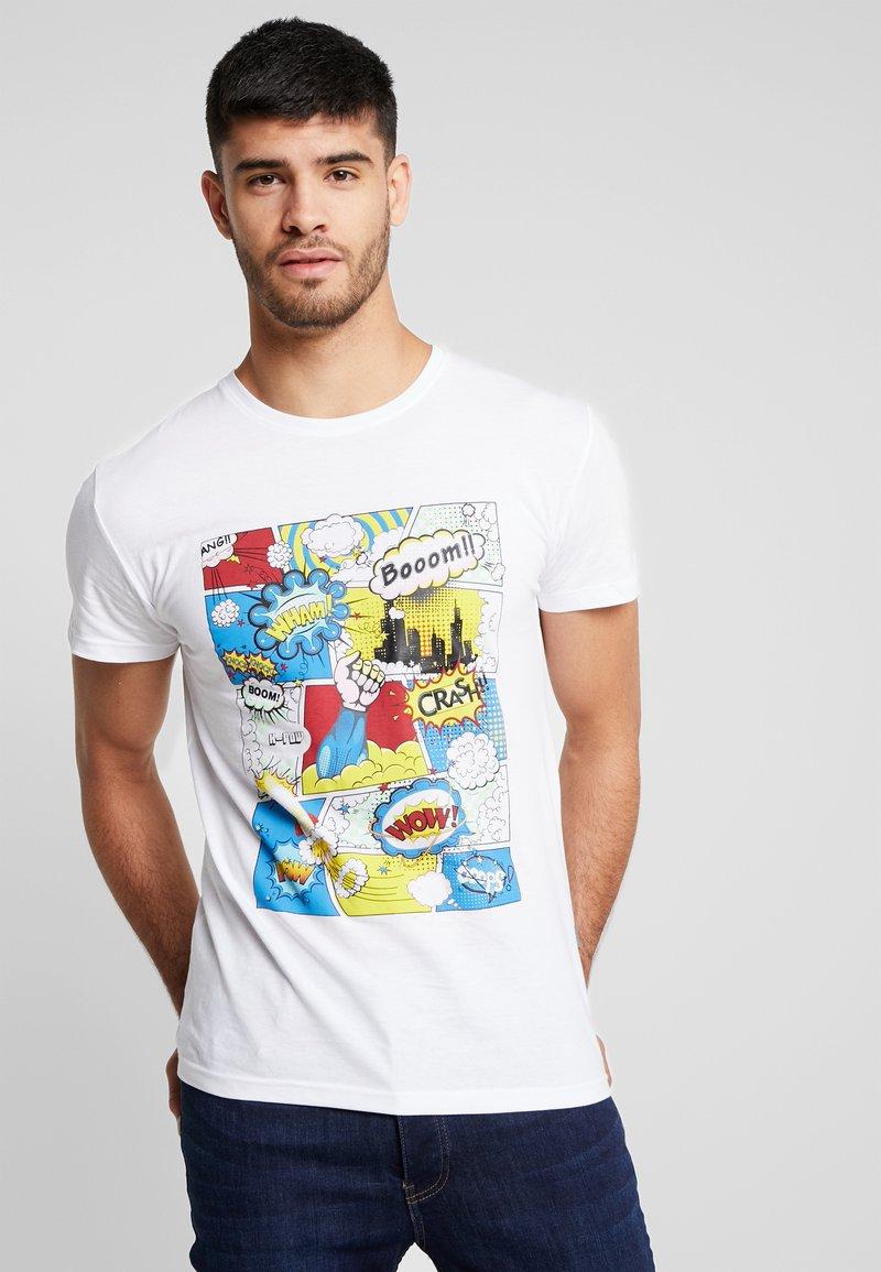 Solid - CALVIN  - Camiseta estampada - white