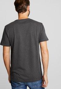 Solid - ROCK  - T-shirt basique - dark grey melange - 2
