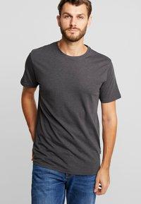 Solid - ROCK  - T-shirt basique - dark grey melange - 0