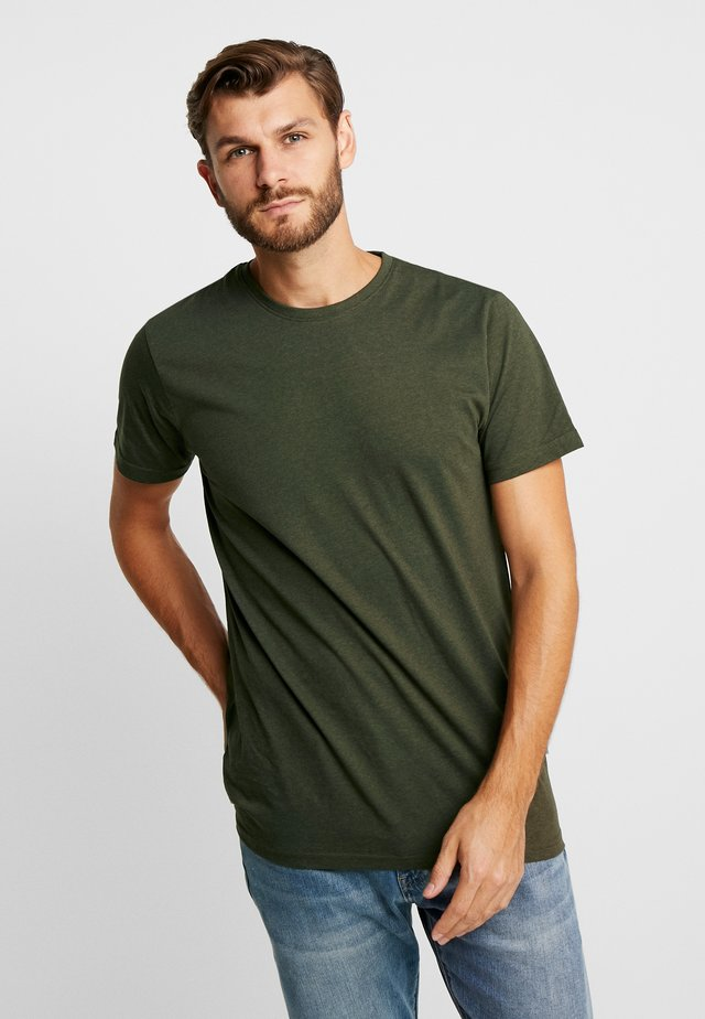 ROCK  - T-shirts - mottled olive