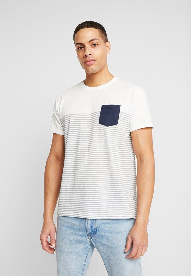 HAL STRIPE - T-shirts med print - dark blue