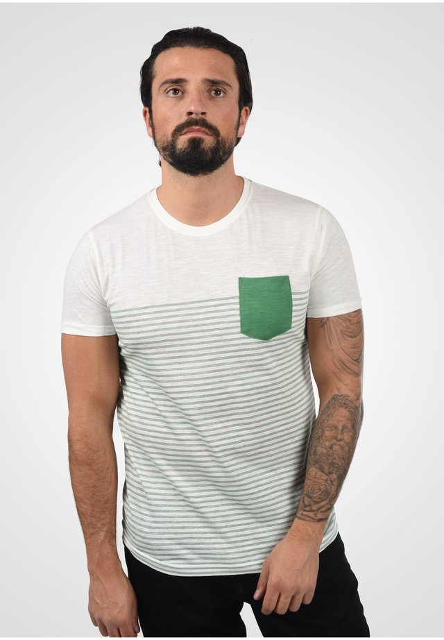 HAL STRIPE - Print T-shirt - bottle green