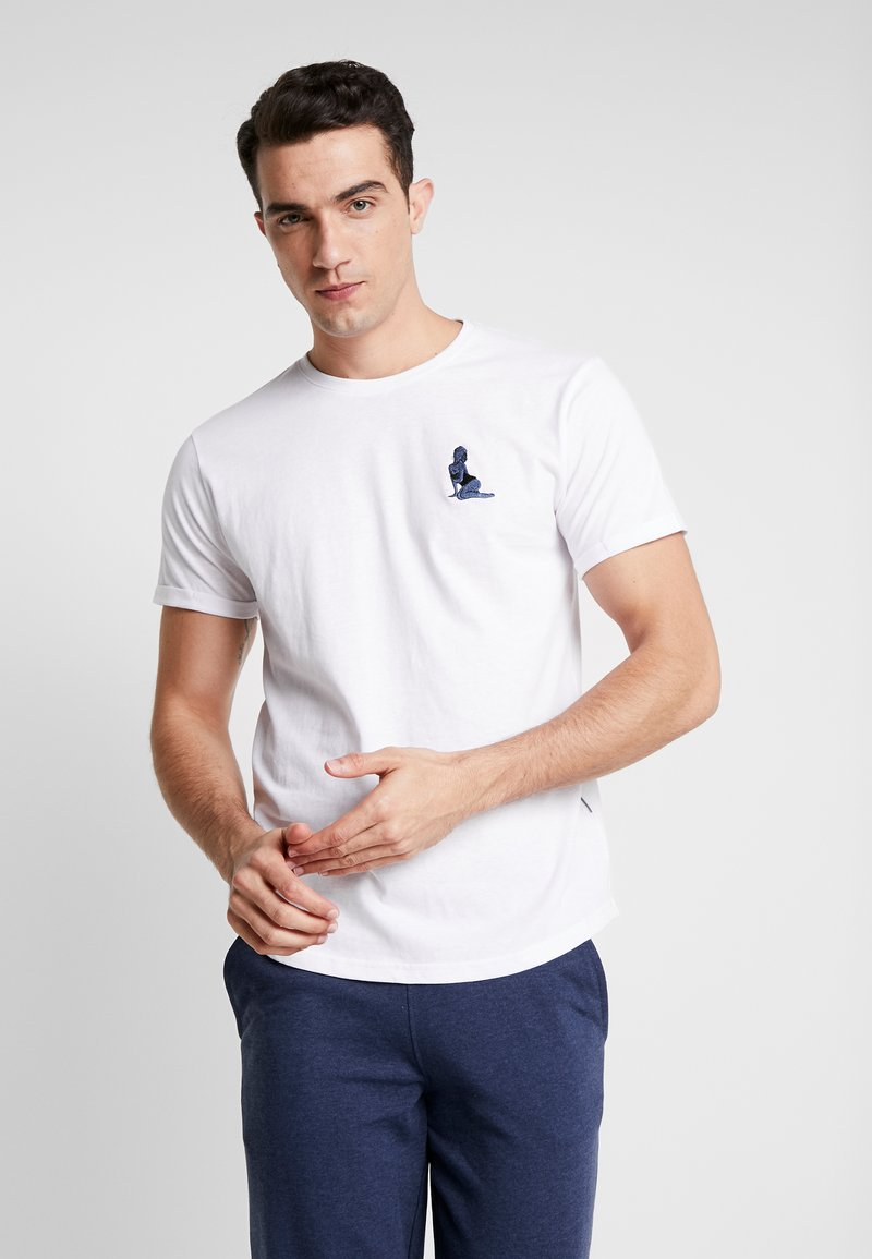 Solid - GAVIN PIN-UP - T-shirt basic - white