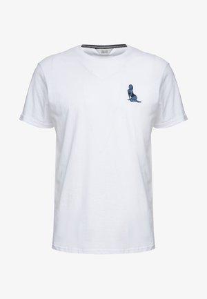 GAVIN PIN-UP - T-shirt basic - white