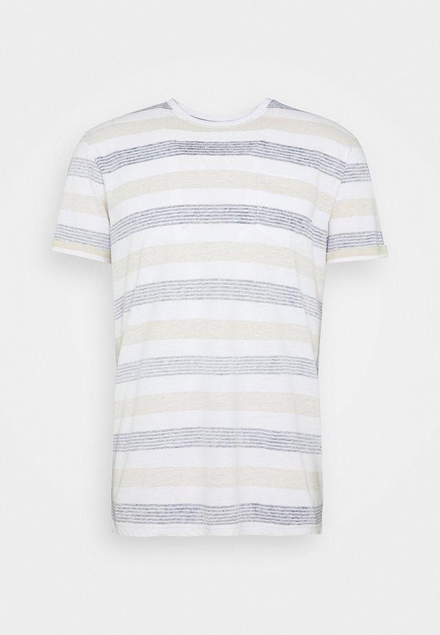 KADEEM STRIPE - T-shirt print - gray blue