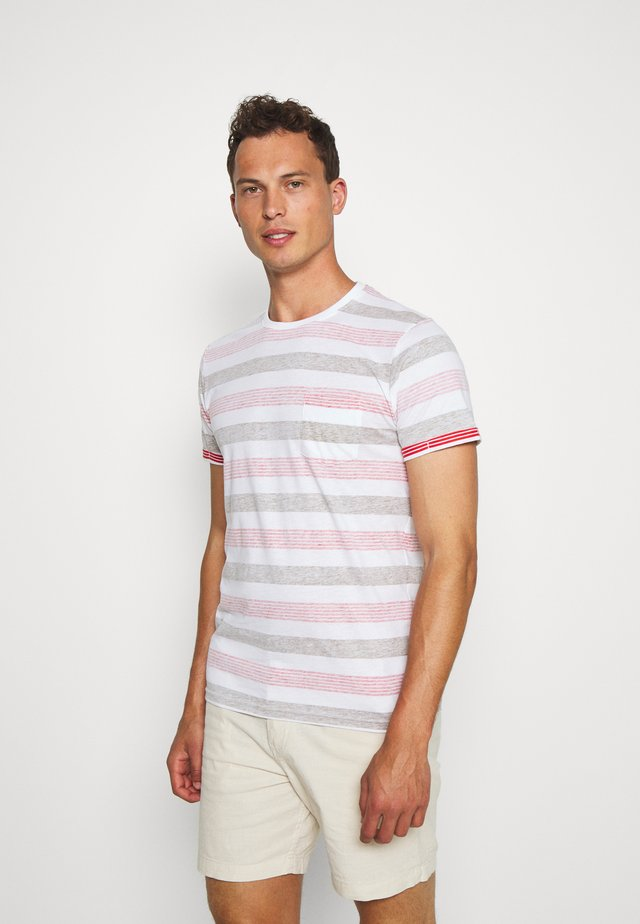 KADEEM STRIPE - Print T-shirt - hunter green