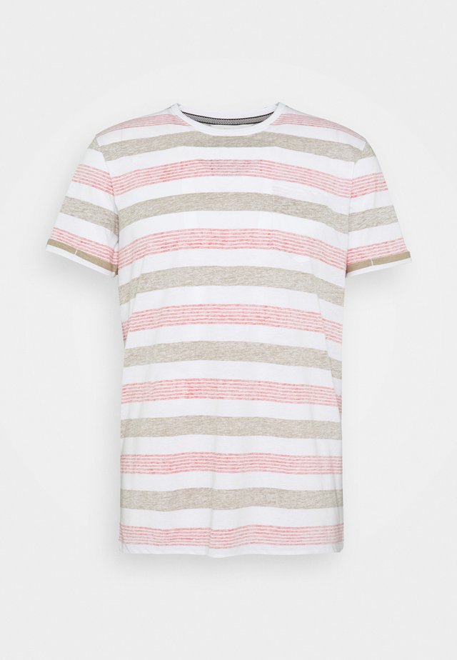 KADEEM STRIPE - T-shirts print - hunter green