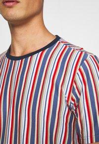 Solid - KANE STRIPE - Print T-shirt - gray blue - 5