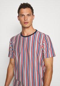 Solid - KANE STRIPE - Print T-shirt - gray blue - 3