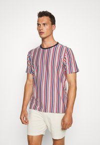 Solid - KANE STRIPE - Print T-shirt - gray blue - 0