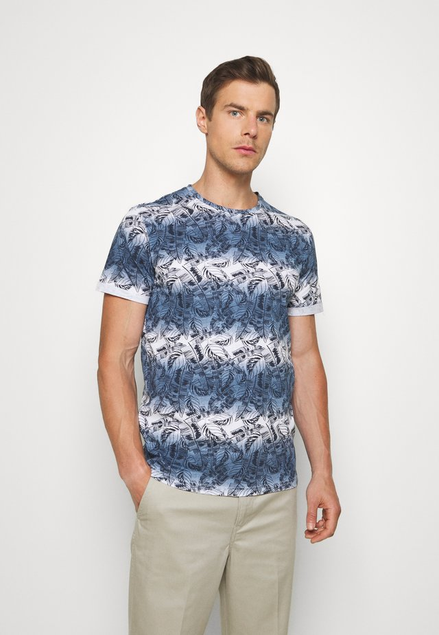 KEATON LEAF - Print T-shirt - insignia blue