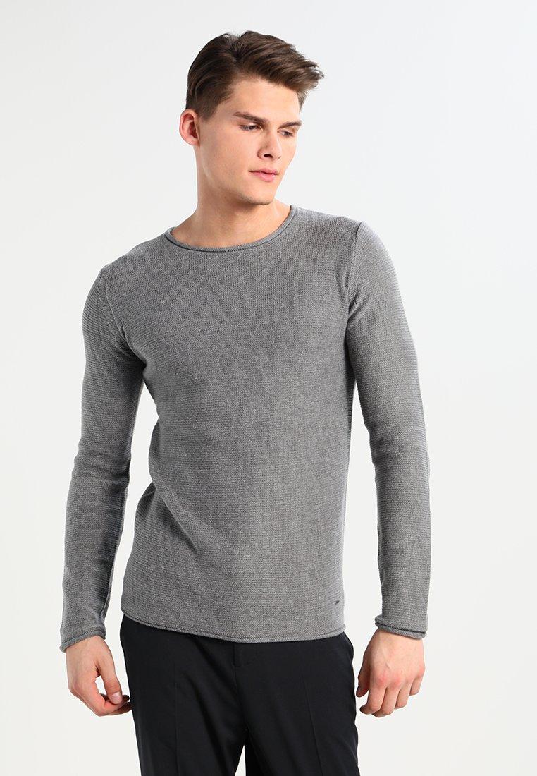 Solid - JARAH - Stickad tröja - grey melange