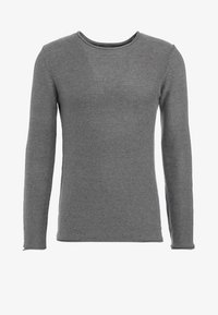 Solid - JARAH - Stickad tröja - grey melange - 5